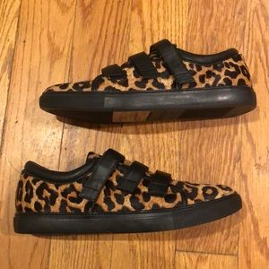 Brand new Kenneth Cole leopard hair calf sneakers